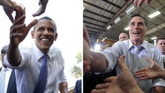 Am Mittwoch gibt es das erste Fernsehduell zwischen Barack Obama (links) und Mitt Romney.