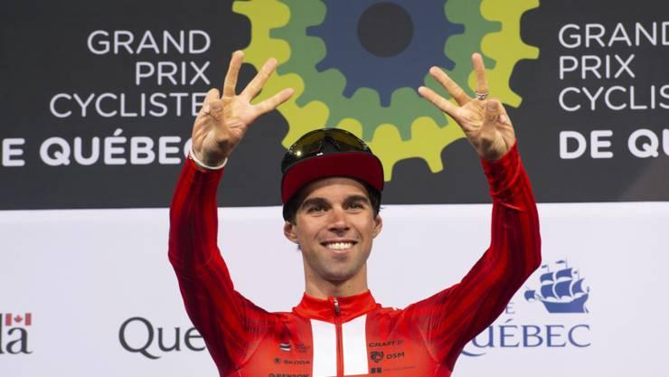 Michael Matthews jubelte in Plouay über seinen ersten World-Tour-Sieg seit September 2019 in Québec City