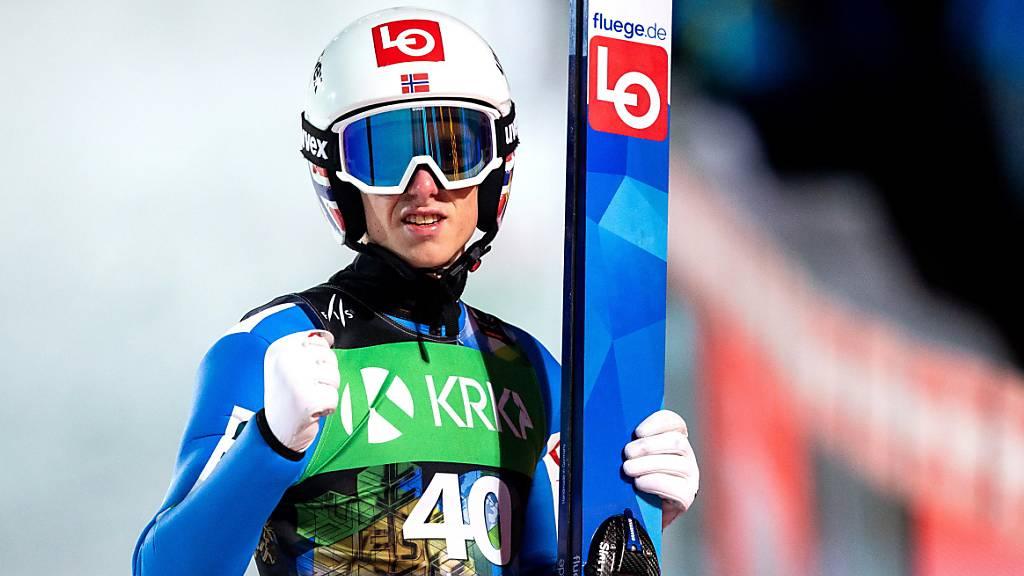 Geschafft: Halvor Egner Granerud führt Norwegen zu Team-Gold.