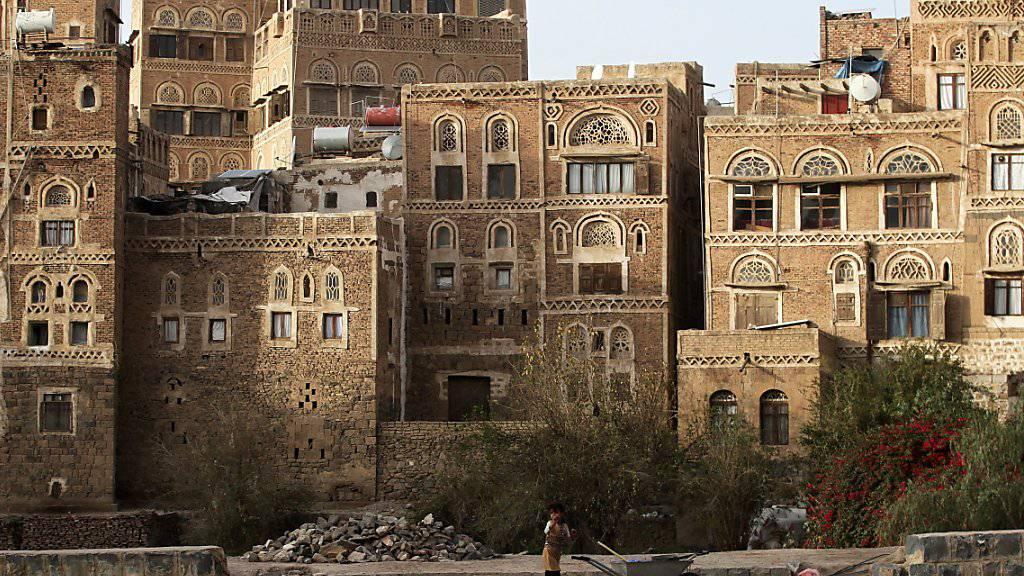 Die historische Altstadt von Sanaa mit ihren rund 8000 typischen Mehrstock-Häusern gehört seit 1986 zum Unesco-Weltkulturerbe. (Archivbild)