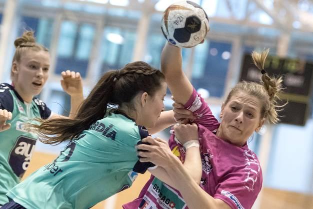 Gianna Calchini, hier noch im Dress der Spono Eagles, im März 2019 gegen den LK Zug.