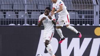 Die Mainzer mit Torschütze Jean-Philippe Mateta machten in Dortmund einen grossen Schritt in Richtung Klassenerhalt