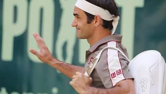 Roger Federer bedankt sich beim deutschen Publikum