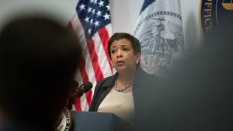 US-Justizministerin Loretta Lynch hat auch Korruption im Sport und Steuerhinterziehung den Kampf angesagt (Archiv).