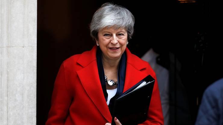 Theresa May vor ihrem Amtssitz an der Londoner Downing Street. Reuters