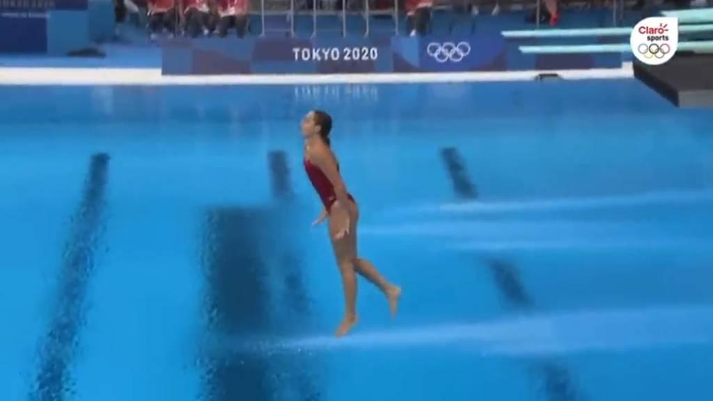 Dieser Sprung ging schief: Olympia-Wasserspringerin plumpst vom 3-Meter-Brett
