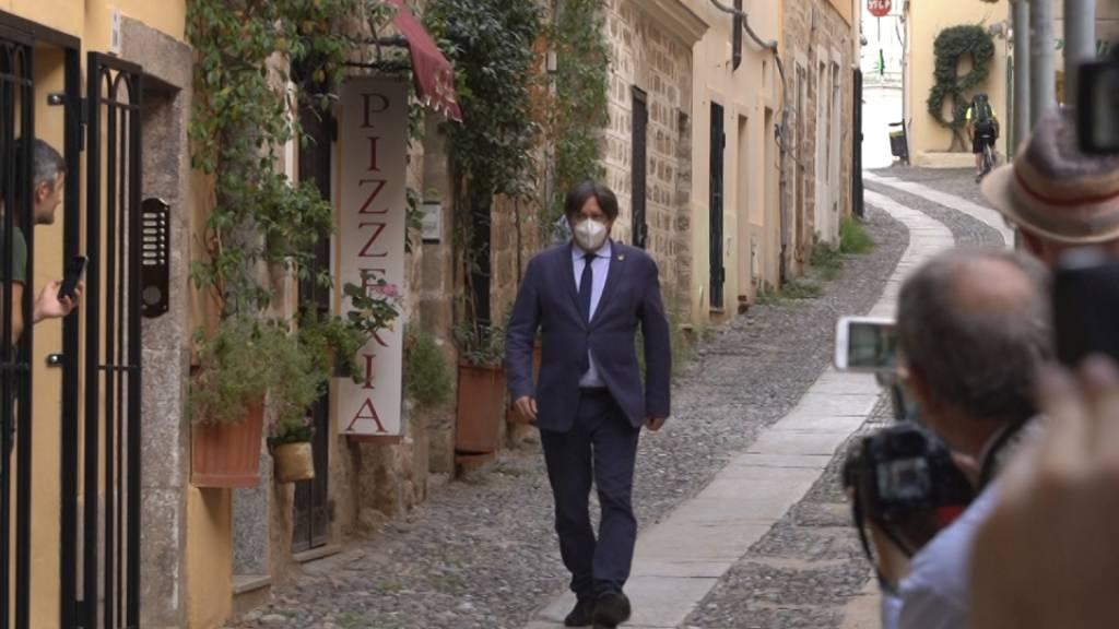 Puigdemont hat Sardinien verlassen