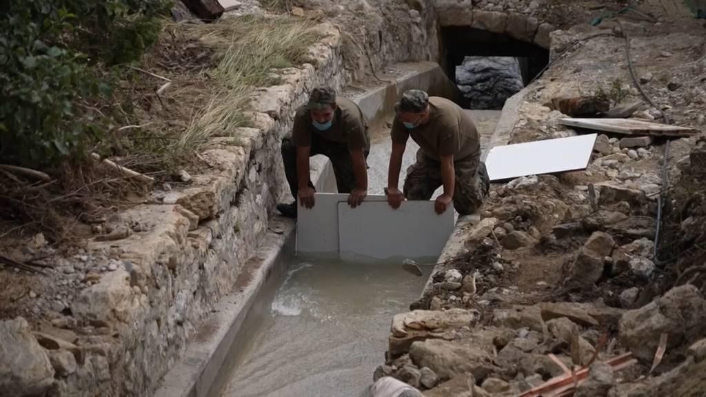 Nach Überschwemmungen in Cressier: 200 Soldaten im Einsatz