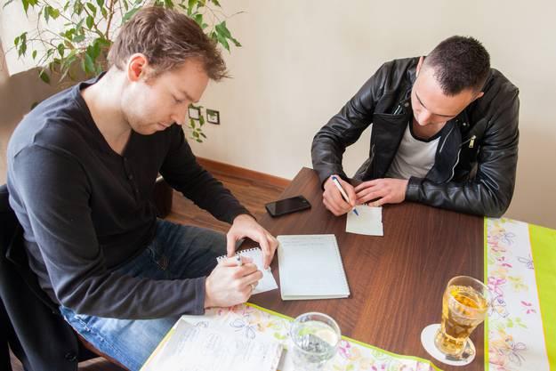 Taktik-Spiele? Drmic im Gespräch mit «Nordwestschweiz»-Redaktor Etienne Wuillemin.