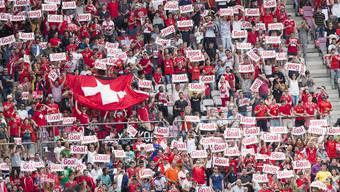 Schweizer Fans beim EM-Vorbereitungsspiel gegen Belgien