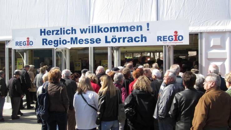 Grosser Besucherandrang an der Regio-Messe in Lörrach im 2012.