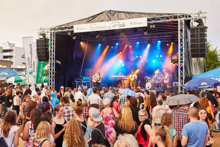 Luca Hänni, Damian Lynn, James Gruntz und viele andere treten dieses Wochenende in Heerbrugg auf. (Bild: Sommer im Park)