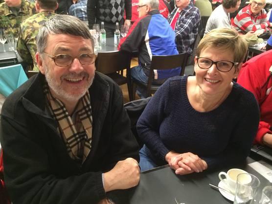 Peter Hallauer und Christine Lovino freuten sich über das gesellige Zusammensein auf der Habsburg.