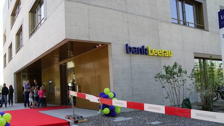 Die Bank Leerau hatte ein Topjahr. Archiv