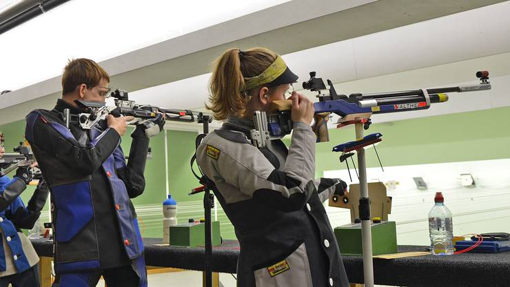 Freundschaftsmatch der 10-m-Gewehrschützen im Badener Esp.
