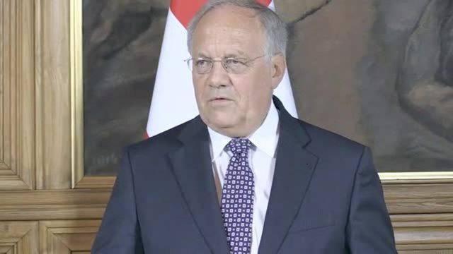 Schneider-Ammann äussert sich zufrieden über das Gespräch mit Juncker