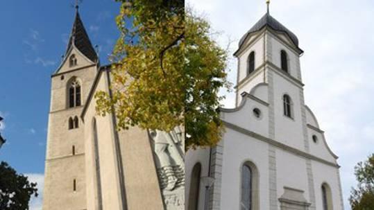 Stolze Bauten – Stadtkirche (re.), reformierte Kirche (li.)–, aber angeschlagene Finanzen.