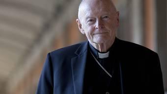 Der vom Papst aus dem Priesteramt entlassene ehemalige Erzbischof von Washington, Theodore McCarrick. (Archivbild)
