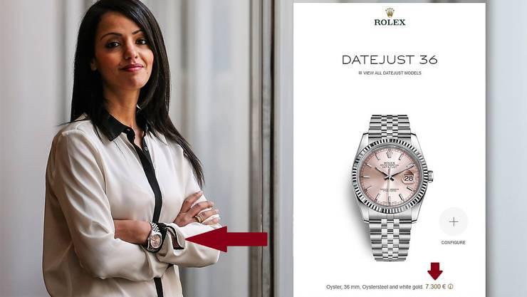 Die Berliner Staatssekretärin Sawsan Chebli, ihres Zeichens Sozialdemokratin, trägt eine Armbanduhr der Edelmarke Rolex.