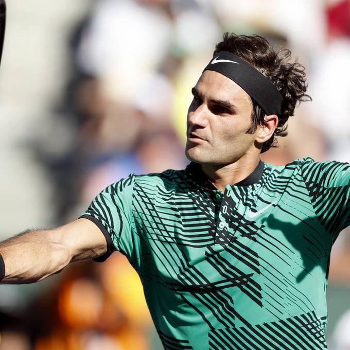 Roger Federer unterbricht Marco Rima