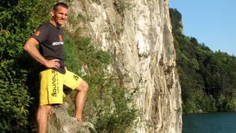 Andreas Marchetti (39) nach getaner Arbeit.