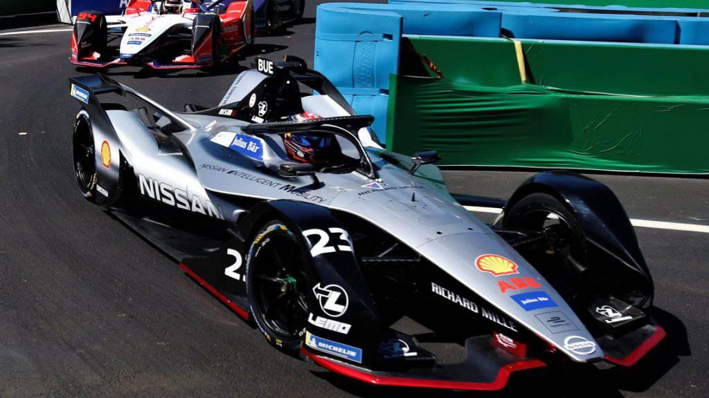 Grosses Pech: Sébastien Buemi geht in der vorletzten Runde des Formel-E-Rennens in Mexiko City die Energie aus