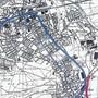 So sah man es 2002: die Ostumfahrung Suhr (rot, generelles Projekt) und die WSB-Verlegung (blau, realisiert).