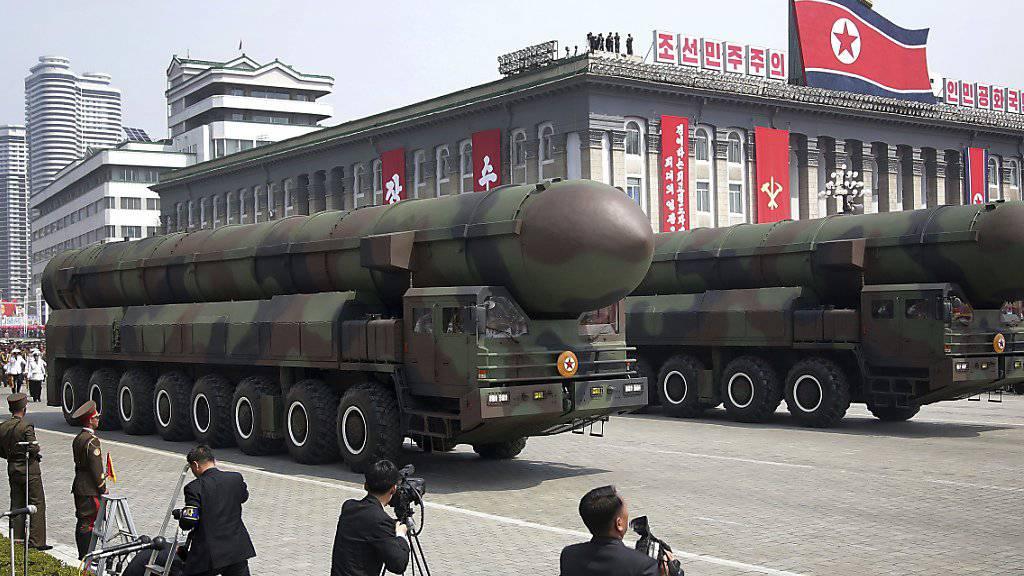 Militärparade in Pjöngjang: Laut der IAEA macht Nordkorea Fortschritte bei seinem Atomprogramm. (Archivbild)