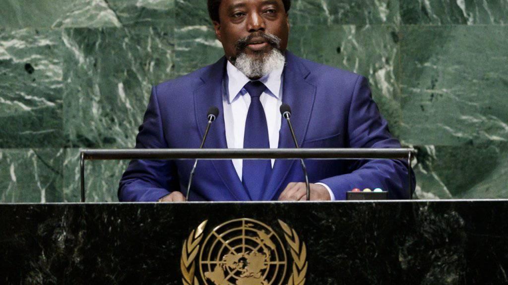 Bei der Wahl im Kongo am Sonntag sollte ein Nachfolger für Präsident Joseph Kabila gewählt werden, weil er nicht wie vorgesehen per Ende 2016 abgetreten war. (Archivbild)
