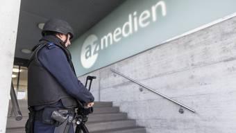 Drohung gegen Medienhäuser – Polizei vor Ort