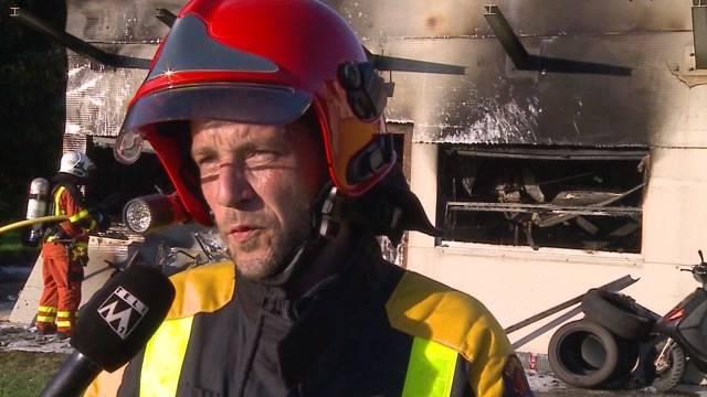 Garage in Oftringen brennt komplett aus