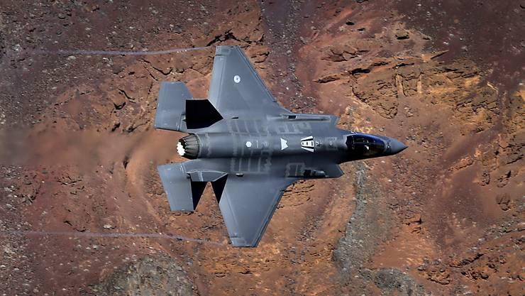 Das Tarnkappen-Kampfflugzeug F-35A des US-Rüstungskonzerns Lockheed-Martin. (Archivbild)