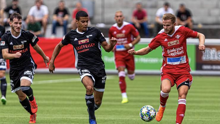 Der FC Baden startet rasant in die Partie und führt schnell - muss sich diesen Vorsprung aber abnehmen lassen.