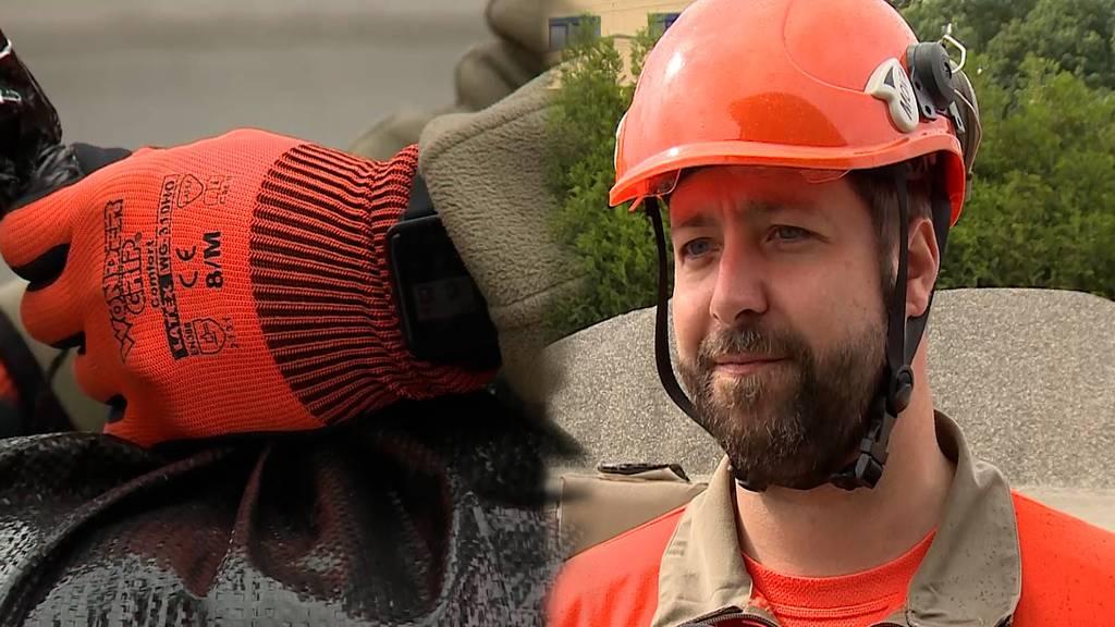 Sandsäcke abfüllen: Zivilschutz rüstet sich fürs Hochwasser