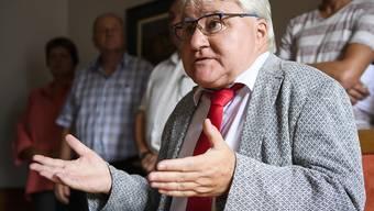Poltisches Urteil: Moutiers Stadtpräsident Marcel Winistoerfer (CVP) am Donnerstag vor den Medien in Moutier.