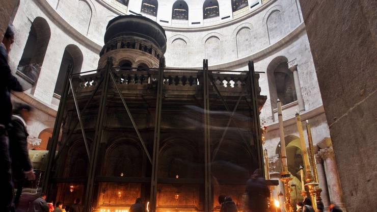 Die Grabeskirche ist dort gebaut, wo Jesus gekreuzigt worden sein soll.