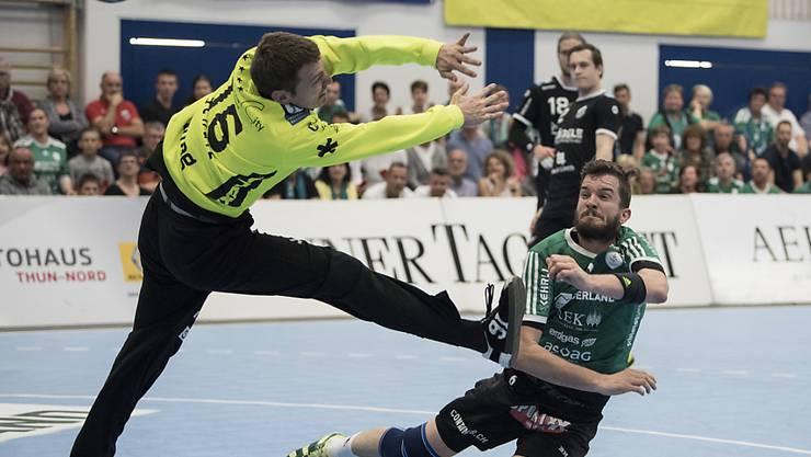 Pfadis Goalie Matias Schulz war nach der Pause eine Wand (Archivbild)