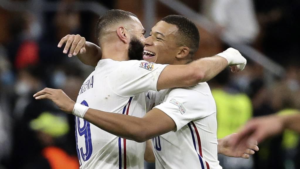 Karim Benzema und Kylian Mbappé sorgten mit ihren Toren für die Wende zugunsten Frankreichs.