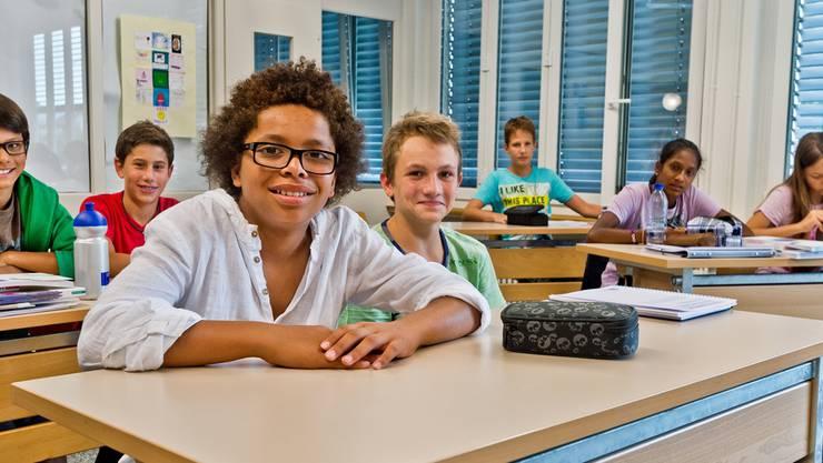 Erster Schultag: Samuel (vorne) besucht neu die Oberstufe der Swiss International School. Emanuel Freudiger