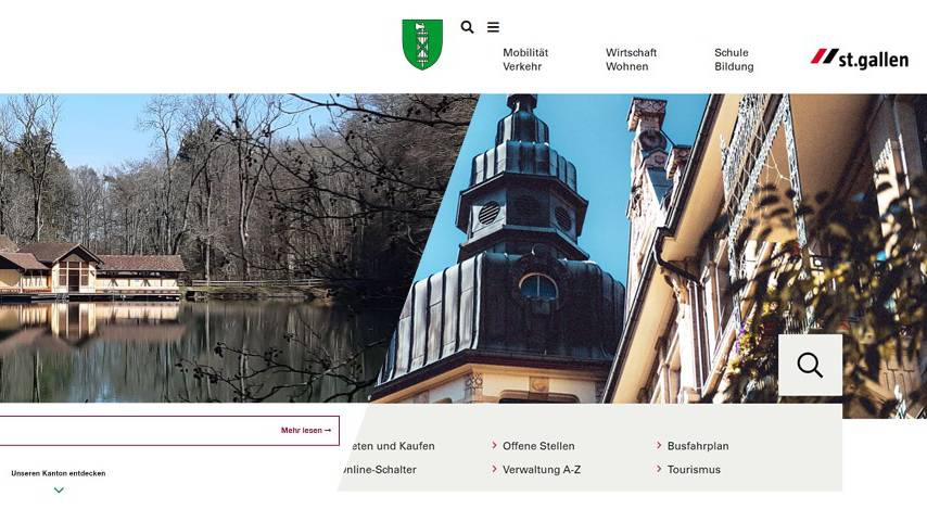 Die Webseiten des Kantons St.Gallen und der Stadt St.Gallen sind wieder online.