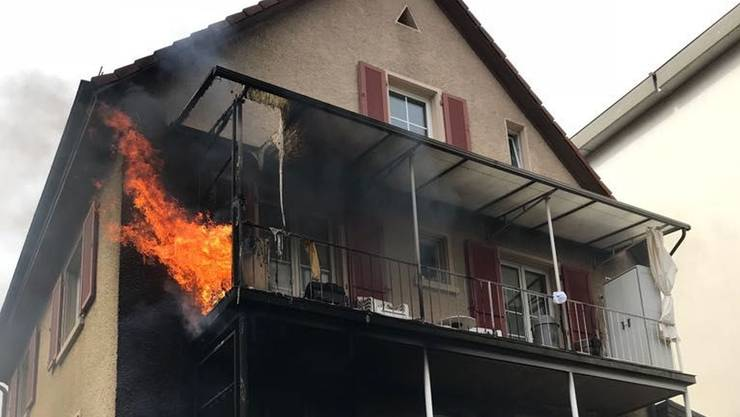 Beim Brand ist beträchtlicher Sachschaden entstanden.