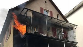 Balkonbrand in Binningen (02.04.18)