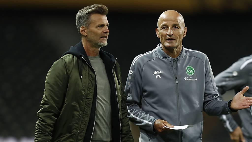 St. Gallens Trainer Peter Zeidler und Sportchef Alain Sutter haben in Thody Elie Youan einen weiteren Youngster für ihr Team gefunden