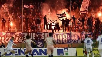 Pyros im Stadion Letzigrund (Symbolbild)