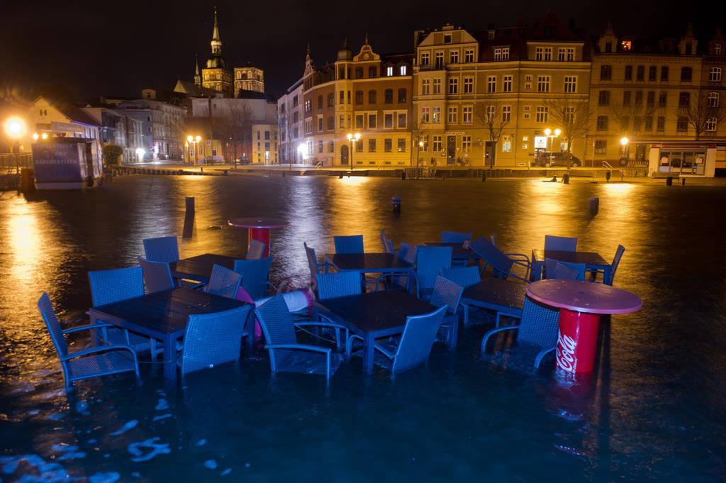 An der Ostsee wütet die schlimmste Sturmflut seit zehn Jahren (© Keystone)