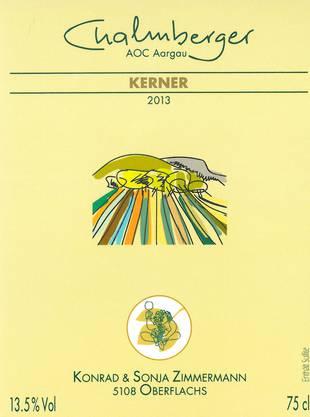 Der Chalmberger von Konrad und Sonja Zimmermann in Oberflachs ist als einziger mit der Traubensorte Kerner in den Final vorgestossen. Die vier weissen Spezialitäten waren alle vom Weinjahr 2013.