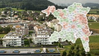 Angebotsmieten im Aargau