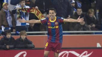 Barcas Xavi Hernandez erzielt das 2:0 gegen Stadtrivale Espanyol
