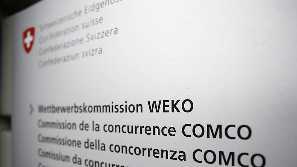Das Logo der Wettbewerbskommission WEKO. (Archivbild)