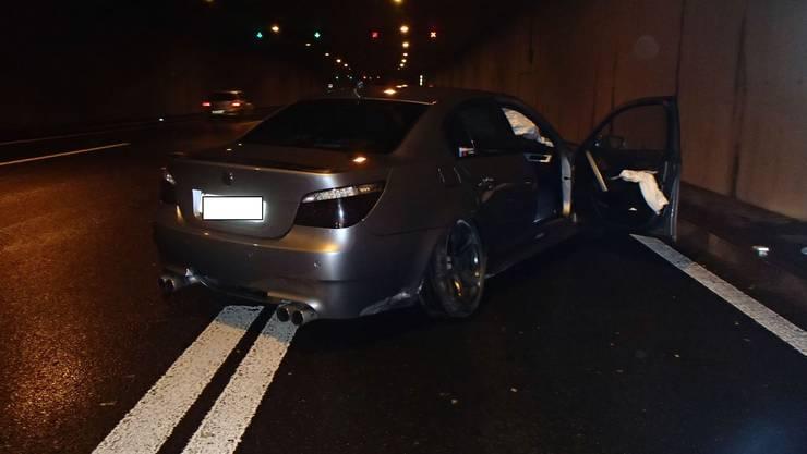 Der Unfall verursachte 40000 Franken Schaden am BMW M5.